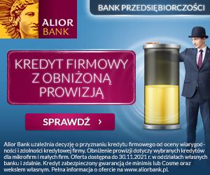 Alior Bank Kredyt firmowy z Obniżoną Prowizją