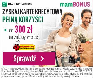 BGŻ BNP Paribas Karta kredytowa + 300 zł premii