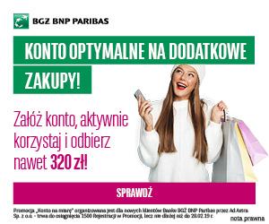 BGŻ BNP Paribas Konto Na Miarę Optymalne z premią