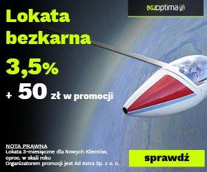 BGŻOptima Lokata BEZKARNA + 50 zł premii