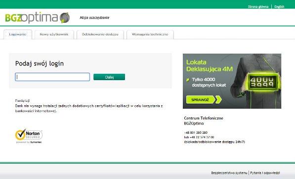 Logowanie BGÅ» Optima