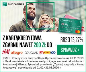 Zgarnij nagrody z kartą kredytową BNP Paribas
