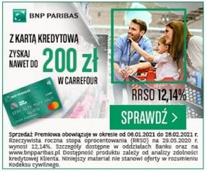 BNP Paribas Karta +bony Carrefour