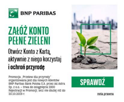 Przelew dla przyrody BNP Paribas