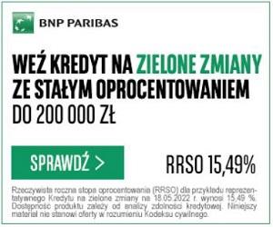 BNP Paribas Kredyt Na Zielone Zmiany