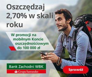 Bank Zachodni WBK Mobilne Konto Oszczędnościowe