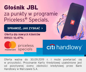 Karta kredytowa + JBL FLIP 3 Citi Handlowy