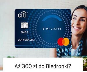 Citi Handlowy Karta kredytowa i bony do Biedronki