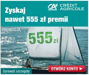 Credit Agricole Konto dla Ciebie do 500 zł dla Ciebie i 1,5% na KO