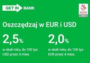 Getin Bank Konto oszczędnościowe USD