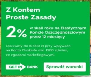 Konto PROSTE ZASADY + bony Decathlon Getin Bank