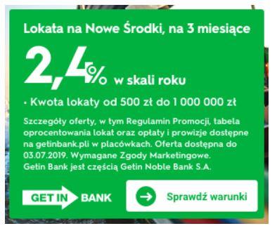 Getin Bank (e) Lokata na NOWE ŚRODKI