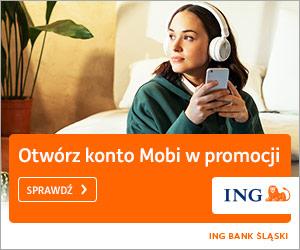 Konto MOBI z premią ING Bank Śląski