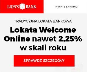 Lokata WELCOME Online Lion's Bank