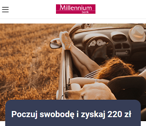 Millennium Konto 360° + 220 zł premii
