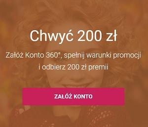 Konto 360° + 200 zł premii Bank Millennium