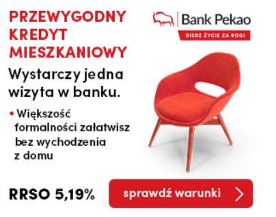 Przewygodny kredyt mieszkaniowy Pekao SA