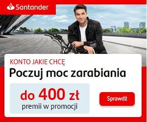 Konto Jakie Chcę z premią Santander
