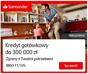 Szybki kredyt gotówkowy Santander