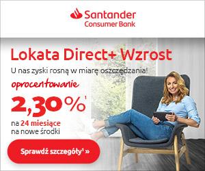 Lokata Direct+ Wzrost Santander