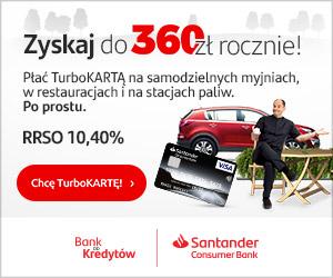 Santander Consumer TURBO karta kredytowa